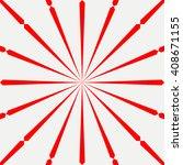 red white stylized sunbeam... | Shutterstock .eps vector #408671155