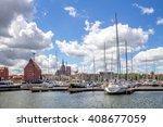 stralsund  harbour   | Shutterstock . vector #408677059