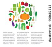 illustration with vegetables.... | Shutterstock .eps vector #408683815