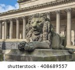 Dramatic Lion Statue Outside S...