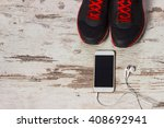 listening music while making... | Shutterstock . vector #408692941