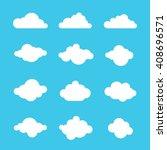 clouds sky heaven icon symbol... | Shutterstock .eps vector #408696571