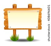 wooden sign post icon symbol... | Shutterstock .eps vector #408696601