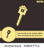 vector illustration of house key | Shutterstock .eps vector #408697711