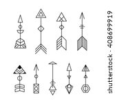 vector decorative arrows set.... | Shutterstock .eps vector #408699919