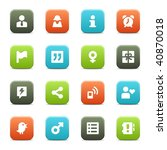 16 icons suitable for... | Shutterstock .eps vector #40870018