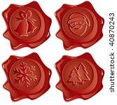 vector images new years postal... | Shutterstock .eps vector #40870243