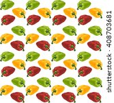 pattern with red  green and... | Shutterstock .eps vector #408703681