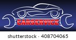 car service   blue  red and... | Shutterstock .eps vector #408704065