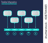 timeline infographics template. ... | Shutterstock .eps vector #408704485