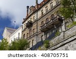old houses on the old city... | Shutterstock . vector #408705751