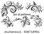 vintage floral calligraphic... | Shutterstock .eps vector #408718981