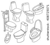 toilet sketch set. | Shutterstock .eps vector #408725071