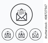 mail envelope icons. find... | Shutterstock . vector #408727567