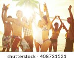 group of young people... | Shutterstock . vector #408731521