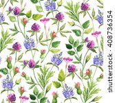 pattern with flowers and plants.... | Shutterstock . vector #408736354