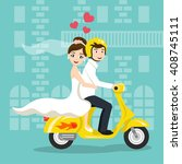 vector illustration of young... | Shutterstock .eps vector #408745111