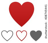 heart icon vector.  | Shutterstock .eps vector #408745441