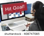hit target goal aim aspiration... | Shutterstock . vector #408747085