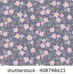 cute pattern in small flower.... | Shutterstock .eps vector #408748621