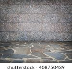 stone wall and stone floor... | Shutterstock . vector #408750439