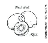 hand drawn kiwi. decorative... | Shutterstock .eps vector #408750475
