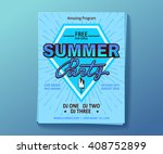 dj summer party  night club... | Shutterstock .eps vector #408752899