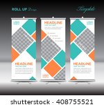 orange and green roll up banner ...