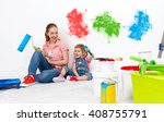 happy family mother and child... | Shutterstock . vector #408755791