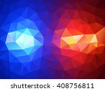 police flasher lights red and... | Shutterstock .eps vector #408756811