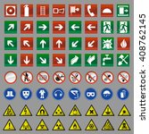 set of safety signs | Shutterstock .eps vector #408762145