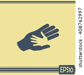 helping hands. vector... | Shutterstock .eps vector #408762997