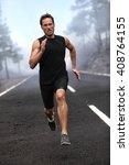 Running Runner Man Sprinting...