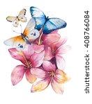 Watercolor Butterflyand...