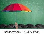 life health insurance... | Shutterstock . vector #408771934
