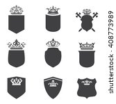 the crown and the shield | Shutterstock .eps vector #408773989
