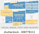 social media posts  header or... | Shutterstock .eps vector #408778111