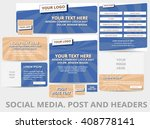 social media posts  header or... | Shutterstock .eps vector #408778141