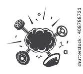 car explosion black simple... | Shutterstock . vector #408788731
