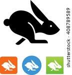 Stock vector jack rabbit icon 408789589
