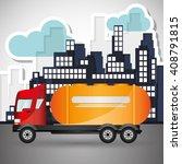 truck graphic design   editable ... | Shutterstock .eps vector #408791815