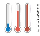 isolated thermometers in... | Shutterstock .eps vector #408792121