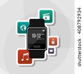 icon of smart watch design ... | Shutterstock .eps vector #408792934