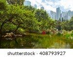 the hong kong park is a public... | Shutterstock . vector #408793927