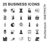 business  finance 25 black... | Shutterstock . vector #408799579