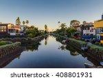 The Venice Canals In Venice  Ca