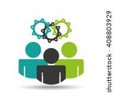 teamwork concept design  | Shutterstock .eps vector #408803929