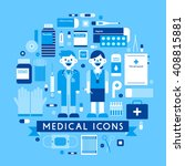 monotone design doctors  nurses ...   Shutterstock .eps vector #408815881