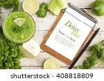 green diet detox drink with... | Shutterstock . vector #408818809
