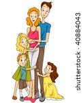 family   vector | Shutterstock .eps vector #40884043